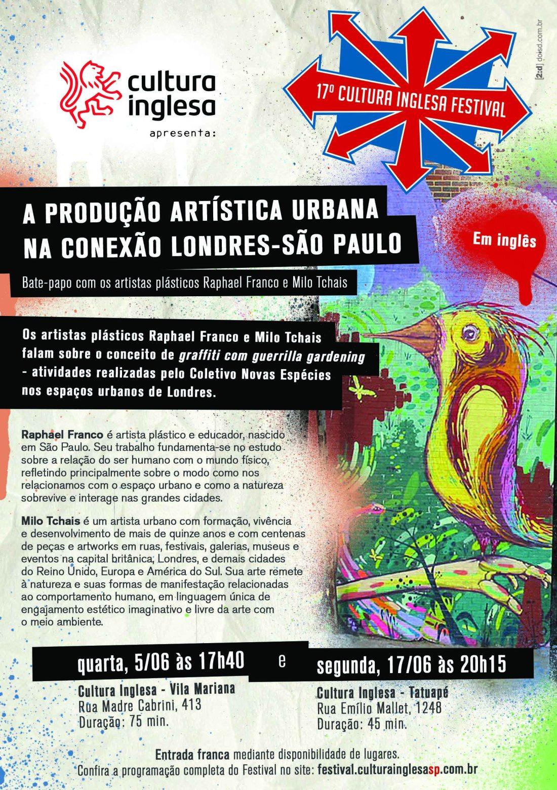Coletivo Novas Espécies no Cultura Inglesa Festival 2013!